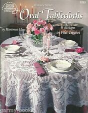 Oval Tablecloths Filet Crochet Instruction Pattern Book Hartmut Hass ASN 1253