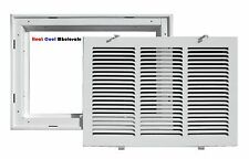 "TruAire 24"" x 14"" White Return Air Filter Grille 190RF"