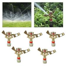"5pcs 3/4"" Garden Lawn Yard Grass Full 360 Rotary Water Irrigation Sprinkler Head"