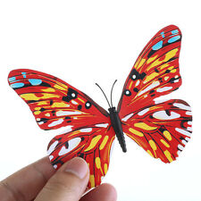 12pcs 3D Butterfly Wall Art Decal Stickers Magnet Mural Home Decoration Red