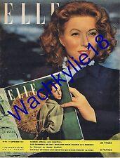 Elle n°94 du 11/09/1947 Maria Montez Aumont Ray Milland Monsieur Verdoux Mode