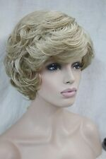 fashion cute blonde mix short curly synthetic women's wigs full wig for everyday