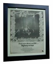 HIGHWAY+Smoking At The Edge+TOUR+ORIGINAL 1974 POSTER AD+FRAMED+FAST+GLOBAL SHIP