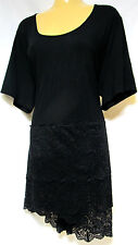 plus sz L/ 20 - 22 VIRTU by TS TAKING SHAPE Mystic Tunic soft sexy lacy Top NWT!