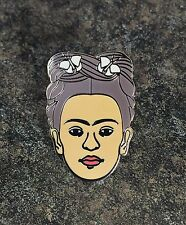 FRIDA KAHLO ENAMEL PIN BADGE | SELF PORTRAIT ARTIST CLASSIC NOVELTY RARE