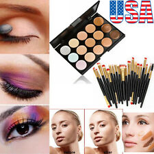 15 Colors Contour Face Cream Makeup Concealer Palette 20 Face Eye Lip Brush Set