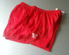 ADIDAS running football RED shorts shiny glanz nylon retro vintage size S NEW