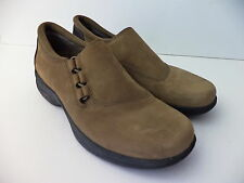 MERRELL TOPO TWIST STONE SUEDE LEATHER SLIP ON LOAFER SHOE SZ 38 US 7.5M
