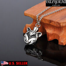 VALYRIA lovely Cat Face Cremation Jewelry Keepsake Memorial Pet Ash Urn Necklace