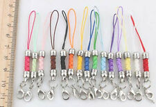 100 pcs 15colors mix Mobile Cell Phone cords Strap Lariat Lanyard Lobster Clasp