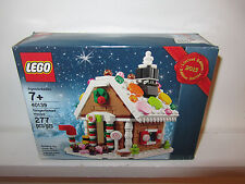 Lego Santa Gingerbread House Lot Set NEW SEALED BOX Christmas Promo Limited Edt