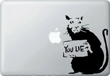 "MB - Rat ""You Lie"" - Banksy Style Macbook/Laptop Decal (BLACK)"