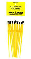 """FLEX COAT - 1/4"""" Rod Finishing Brushes 10 Pack"""