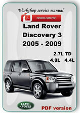 Land Rover Discovery 3 LR3 2005 2006 2007 2008 2009 Factory service repair manua