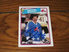 MICHEL GOULET AUTOGRAPHED 1988 TOPPS HOCKEY CARD-HOF