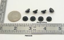 """8 Rubber Push-In Ridged Stem Bumpers 3/8"""" Diam - Feet - Fits 5/32"""" Hole"""