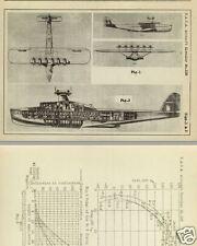 DORNIER Do X & Do R Superwal Flying Boat Report's RARE ARCHIVE DETAIL 1927 1930