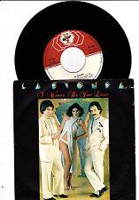 """7 """" seltene rare  Pressung aus Portugal  von LA BIONDA I Wanna Be Your Lover"""