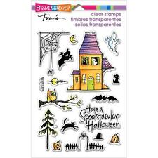 New stampendous RUBBER STAMP clear Acrylic HALLOWEEN spooky house free us ship