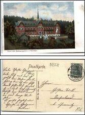 Grünhain cachet 1910 a/AK Gruss du genesungsheim saxe verlag Gerstäcker