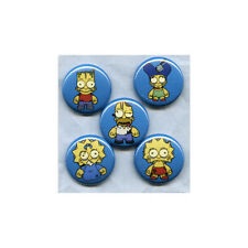 ZOMBIE SIMPSONS - PINS BUTTONS BADGES (kidrobot bart homer family guy futurama)