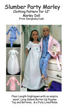 """Pajama Doll Clothes Sewing Pattern for 12"""" Marley & 14"""" Patience Tonner"""
