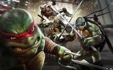 """Teenage mutant ninja turtles 2014 Movie  Fabric poster 40"""" x 24""""  Decor 08"""