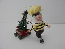 Hershey's Chocolate World Wooden Hershey Elf with Wagon & Tree Ornament