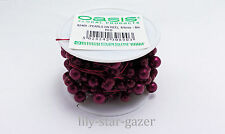 Oasis - Red 6mm & 8mm Pearls on 8m Red Wire - Beads Wedding Floristry Bridal NEW