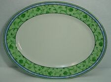 """WEDGWOOD china WATERCOLOUR Home Collection OVAL MEAT Serving PLATTER 14-1/4"""""""