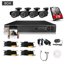 8CH 960H DVR Kit 800TVL CCTV IR-Cut Home Security Camera System w/1TB for Phone