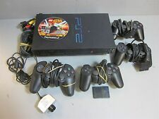 PS2 PlayStation 2 Bundle- 4 Controllers, Lego Star Wars, Eye Toy, Cables & More