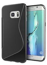 ULTRA Sottile Samsung Galaxy S7 bordo TPU GEL MORBIDO S Case [ Nero ] Protettiva Gel