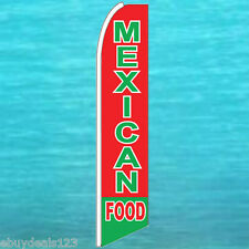 MEXICAN FOOD FEATHER FLUTTER FLAG Restaurant Swooper Advertising Sign Bow Banner