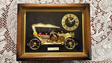 1910 Antique Touring Car Framed Linden Quartz Clock