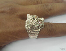 92.5% sterling silver ring panther tiger head ring handmade jewellery