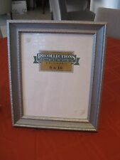 NIB Recollections By Burns Frames 8 X 10 Silver Painted Wood