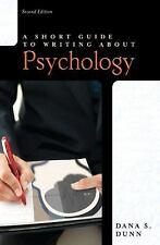 Short Guide to Writing about Psychology (2nd Edition) (Short Guides Series)