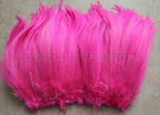 "100+ (7.0g, 1/4Oz) Hot Pink 5-7"" Hackle Rooster COQUE Feathers for crafting"