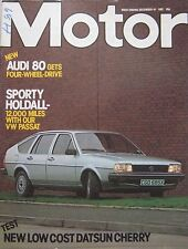 Motor magazine 18/12/1982 featuring Nissan Cherry road test, MGB V8