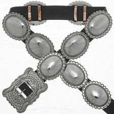 Navajo Second Phase Silver Concho Belt Traditional Patterns