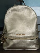 MICHAEL KORS GOLD LEATHER BACKPACK
