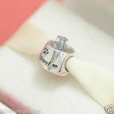 * New! Authentic Pandora Woof Dog Bowl Charm 791708CZ