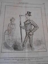 Caricature 1883  Les parapluies à têtes d'Oie