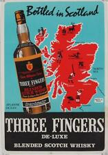 Three Fingers Scotch Whisky Original Vintage Advertising Poster