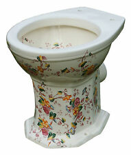 TRTC Floral Decorated Patterned Victorian Reproduction Toilet New
