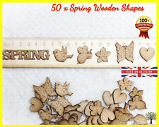 50 Spring Butterfly Wooden shapes Craft Scrapbooking MDF Wood Gift Card making