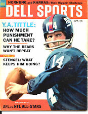 SEPTEMBER 1964 DELL SPORTS MAGAZINE-NFL-AFL FOOTBALL ROSTERS/PREVIEW-Y.A. TITTLE