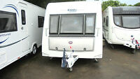 Elddis AFFINITY 550 TOURING CARAVAN REAR ISLAND FIXED BED