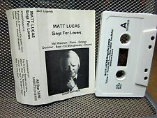 MATT LUCAS jazz Sings for Lovers cassette tape 1973 rockabilly legend blues soul